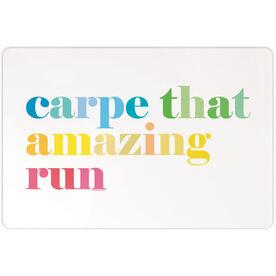 """Running 18"""" X 12"""" Aluminum Room Sign - Carpe That Amazing Run"""