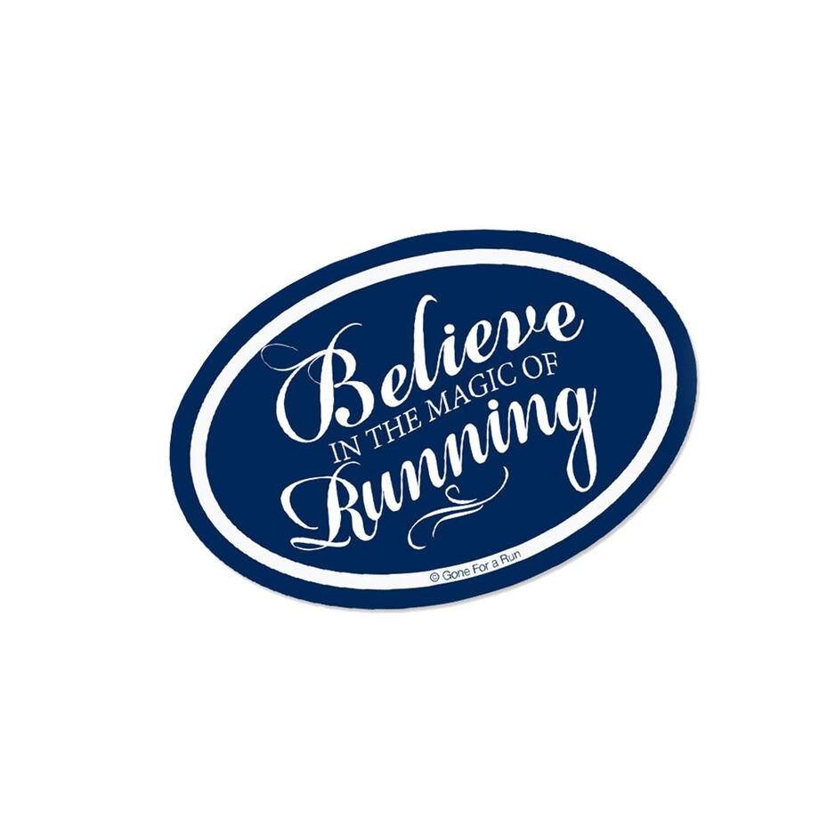 Running Mini Car Magnet - Fun Size Believe In The Magic of Running