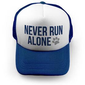 Running Trucker Hat - Never Run Alone (Bold)