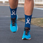Running Printed Mid-Calf Socks - Fighter