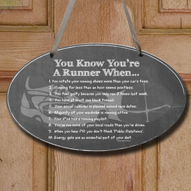 Vintage You Know You're A Runner When Decorative Oval Sign