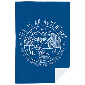 Running Premium Blanket - Life Is An Adventure