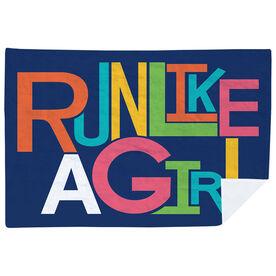 Running Premium Blanket -  Run Like A Girl (Funky)