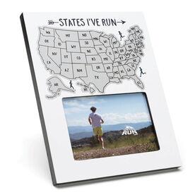 Scratch Off Frame - States I've Run