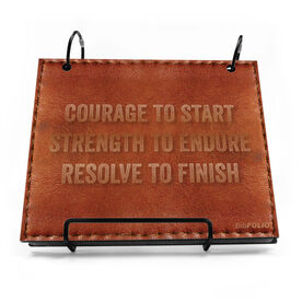 BibFOLIO® Race Bib Album - Courage to Start Quote Executive