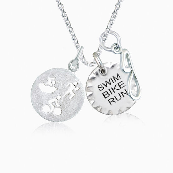 Livia Collection Sterling Silver Tri Duo Necklace