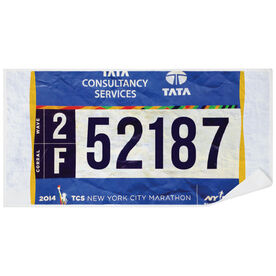 Running Premium Beach Towel - Your Race Bibs (1 Bib)