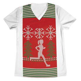 Women's Running Short Sleeve Tech Tee - Ugly Sweater