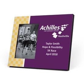 Running Photo Frame - Achilles International - Nashville Logo