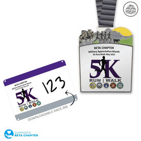 Virtual Race - Beta Chapter Military Appreciation Month 5K (2021)