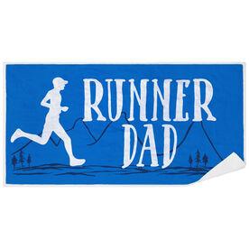 Running Premium Beach Towel - Runner Dad