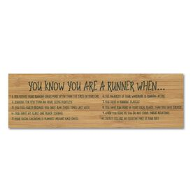 """Running 12.5"""" X 4"""" Printed Bamboo Removable Wall Tile - You Know You Are A Runner When"""