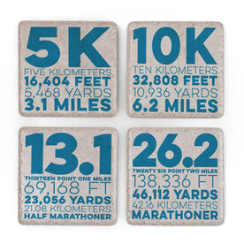 Running Stone Coaster Set of 4 - Race Distance