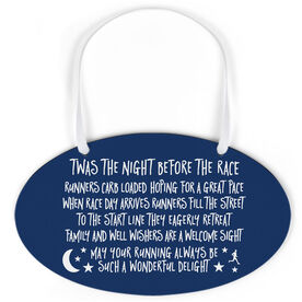 Running Oval Sign - Twas The Night Before The Race (Simple)
