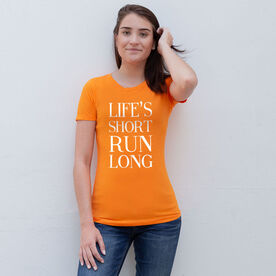 Women's Everyday Runners Tee - Life's Short Run Long (Text)