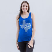 Women's Athletic Tank Top Texas State Runner