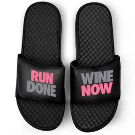 Running Black Slide Sandals - Run Done Wine Now