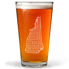 20 oz Beer Pint Glass New Hampshire State Runner