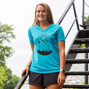 Women's Short Sleeve Tech Tee - Life's Short Run Long (Mountains)