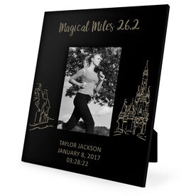 Running Engraved Picture Frame - Magical Miles Sketch