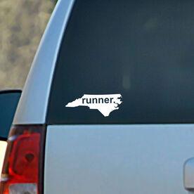 North Carolina State Vinyl RUNNERDecal