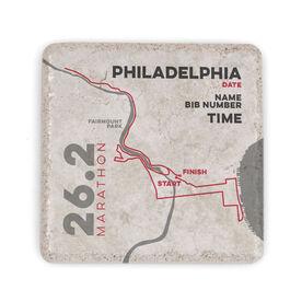 Running Stone Coaster - Philadelphia 26.2 Route