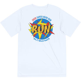 Running Short Sleeve Performance Tee - Super Hero Run 2020