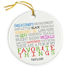 Running Porcelain Ornament Favorite Things