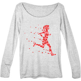 Women's Runner Scoop Neck Long Sleeve Tee - Heartfelt Run