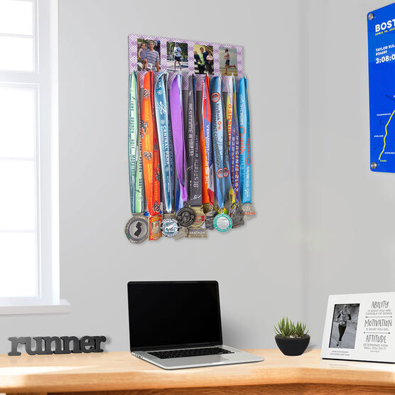 Running Hooked on Medals Hanger - Custom Four Photos