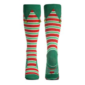 Running Woven Mid-Calf Socks - Jingle Bell