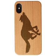 Running Engraved Wood IPhone® Case - Lone Wolf