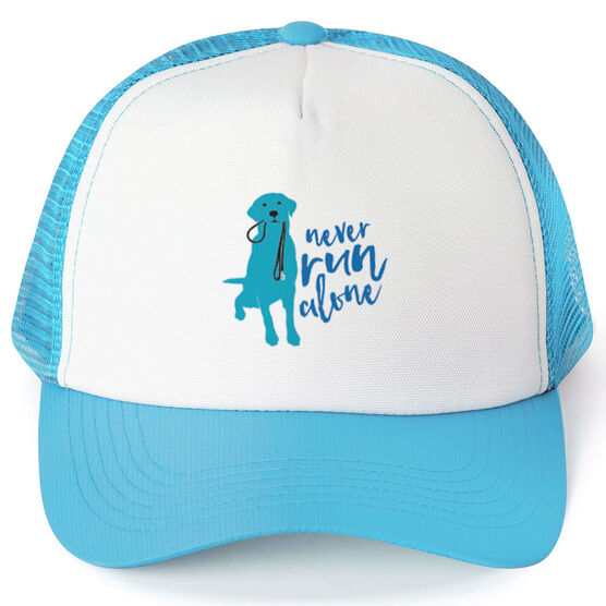 Running Trucker Hat Never Run Alone