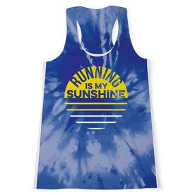 Women's Performance Tank Top - Running Is My Sunshine Tie-Dye