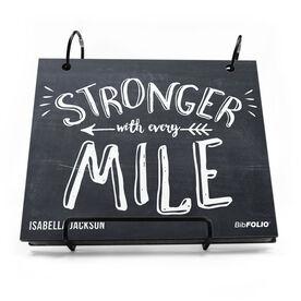BibFOLIO® Race Bib Album - Stronger With Every Mile
