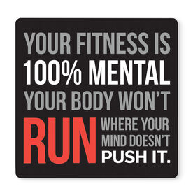 "Running 12"" X 12"" Removable Wall Tile - Your Fitness is 100% Mental"