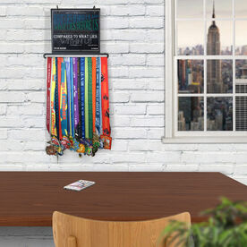 BibFOLIO+™ Race Bib and Medal Display Chalkboard What Lies Behind Us