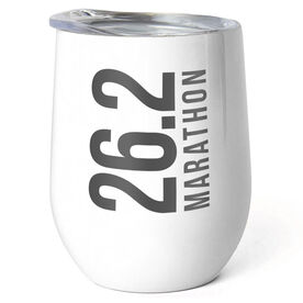 Running Stainless Steel Wine Tumbler - 26.2 Vertical