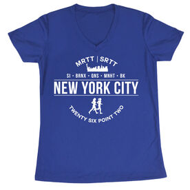 Women's Running Short Sleeve Tech Tee - New York City 26.2 (MRTT/SRTT)