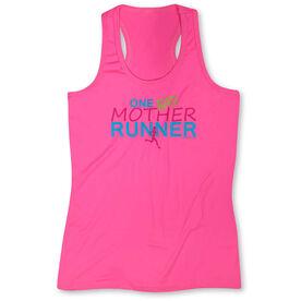 Women's Performance Tank Top One Bad Mother Runner (White)
