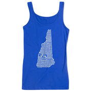 Women's Athletic Tank Top New Hampshire State Runner