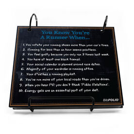BibFOLIO® Race Bib Album - You Know You're A Runner When Chalkboard