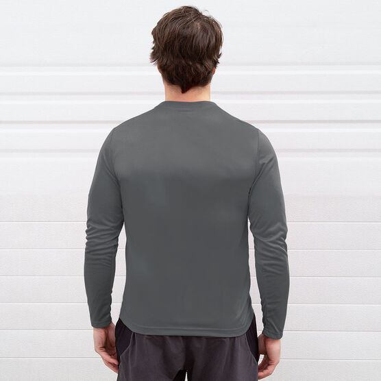 Long Sleeve Performance Tee - Let's Run Now Gobble Later