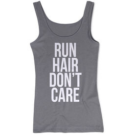 Women's Athletic Tank Top - Run Hair Don't Care