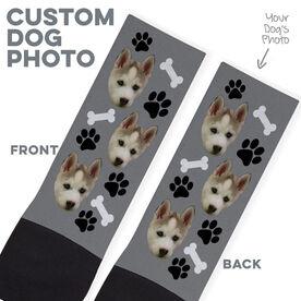 Printed Mid-Calf Socks - Custom Dog Face