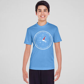Men's Running Short Sleeve Tech Tee - Compass - It's Not Where You Take The Trails