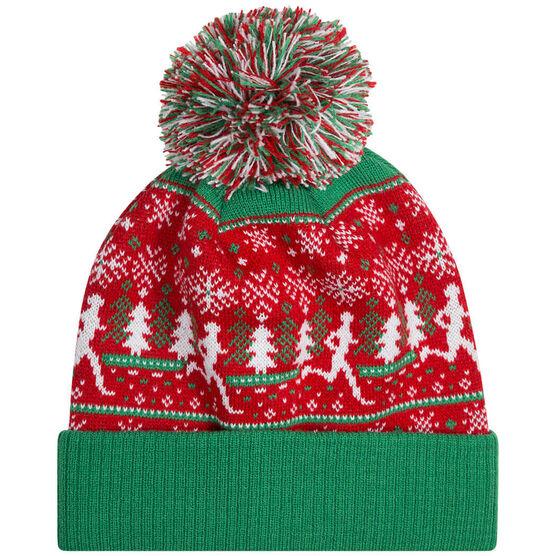 Running Knit Hat - Christmas Sweater (Red)