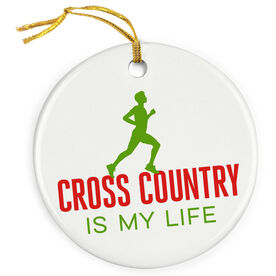 Cross Country Is My Life (Male) Porcelain Ornament