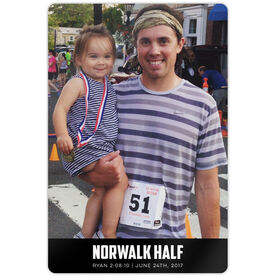 "Running 18"" X 12"" Aluminum Room Sign - Custom Photo With Text Portrait"