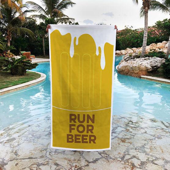 Running Premium Beach Towel - Run For Beer